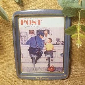 Vintage Norman Rockwell POST Decor Tin